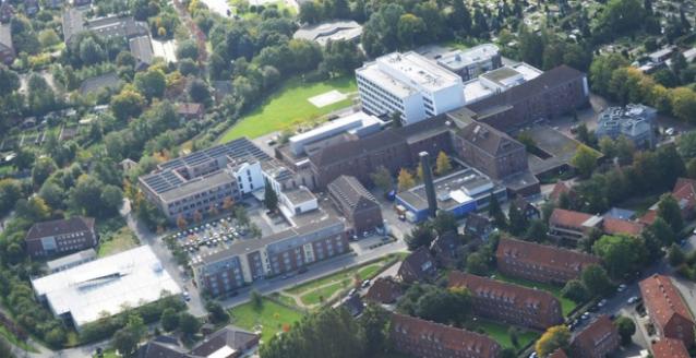 Luftaufnahme des Klinikums Emden