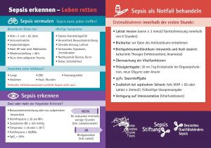 Kitteltaschenkarten Sepsis erkennen - Leben retten