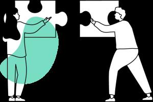 Aufruf Reform Gesundheitswesen Illustration Zusammenarbeit