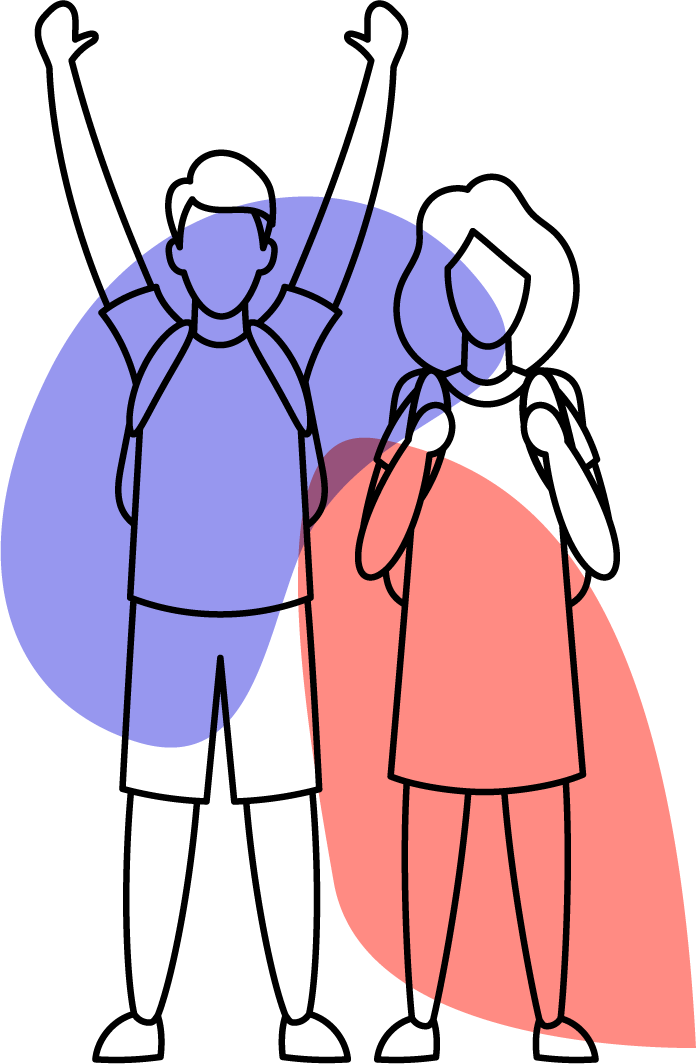 Illustration Sepsis-Stiftung Kinder Ranzen